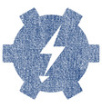 electric power gear fabric textured icon vector image