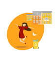 end pandemic and quarantine young woman vector image