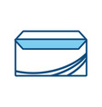 envelope white and blue vector image