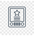 etch a sketch toy concept linear icon isolated on vector image