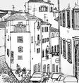 european street vector image vector image