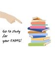 Examination test poster Exam preparation vector image