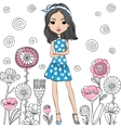 fashion cute happy girl vector image