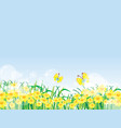 floral summer or spring landscape meadow with vector image