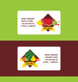 fruit fruity business card background vector image vector image