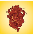 Ganesh sculpture vector image