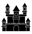 german castle icon black vector image