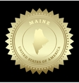 Gold star label Maine vector image vector image