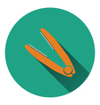 Hair straightener icon vector image vector image