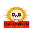 halloween skull party logo cartoon style vector image