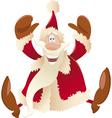 happy santa claus cartoon vector image vector image