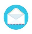 Icon of open new mail envelope White envelope on vector image vector image