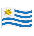isolated uruguayan flag vector image vector image