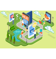 Isometric Virtual Shopping Concept vector image vector image