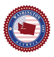 Label sticker cards of State Washington USA vector image