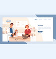 landing page template with pair smiling vector image vector image