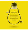 Lightbulb text bubble concept idea vector image vector image