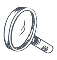 loupe ecommerce sketch for shopping online vector image