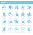 mind process marketing icons vector image