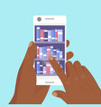 online library phones app vector image vector image