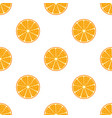 orange flat seamless patternvegetarian fresh food vector image vector image