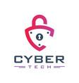 padlock logo design letter c vector image vector image