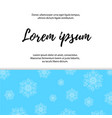 pattern with snowflakes blue background vector image