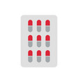 pills icon vector image