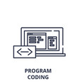 program coding line icon concept program coding vector image vector image