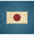 Retro Japan Flag Postage Stamp vector image vector image