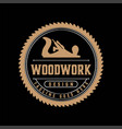 retro vintage jack plane woodwork woodworking vector image