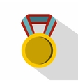 Round medal icon flat style vector image vector image