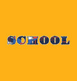 school concept word art vector image