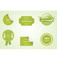 Set of eco badges vector image vector image