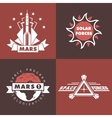 Set of space badges and labels vector image vector image