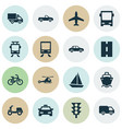 shipment icons set collection of way truck vector image vector image