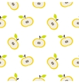 Simple apple fruit repeating pattern vector image vector image
