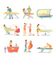 spa salon pedicure and barber ions set vector image