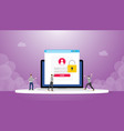 stealing information data login password phishing vector image vector image