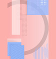 trendy abstract shapes geometric background 90s vector image vector image