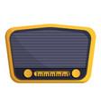 vintage home radio icon cartoon style vector image vector image