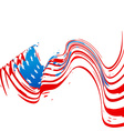 wave style american flag design vector image vector image