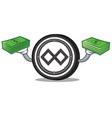 with money tenx coin mascot cartoon vector image