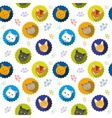Cute cats seamless pattern vector image