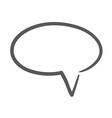 Hand drawn bubble dialog icon vector image