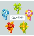 Set of cartoon medals for pet vector image