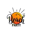 beach party logo for poster vector image