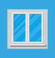 plastic modern window vector image