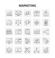 25 hand drawn marketing icon set gray background vector image vector image