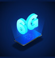 6g high speed mobile network mobile phone vector image vector image